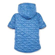 Zack and Zoey Elements Quilted Hearts Dog Dog Jacket - Blue