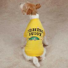 Zack & Zoey Fishing Buddy Dog T-Shirt - Yellow