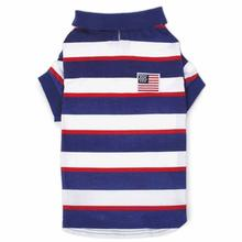 Zack and Zoey Patriotic Pooch SPF40 Polo Dog Shirt