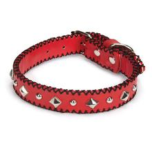 Pop Stitch Dog Collar - Red