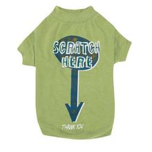 Zack & Zoey Scratch Here Dog T-Shirt - Green