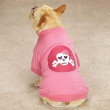 Zack & Zoey Skull-fari Dot Girls Dog T-Shirt - Pink
