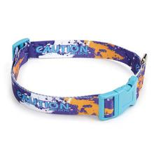 Splatter Charged Dog Collar - Purple