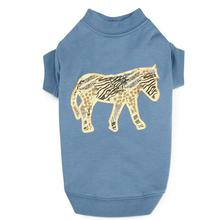 Zack and Zoey Wild Savannah Metallic Dog Shirt - Zebra