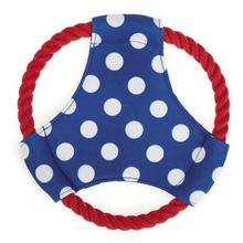 Zanies All Paws on Deck Flyer Dog Toy - Blue