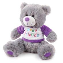 Zanies BFF Bear Dog Toy - Purple