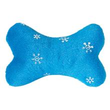 Zanies Blizzard Bones Dog Toy - Blue