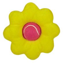 Zanies Blooming Brights Tennis Ball Flower Dog Toy - Yellow