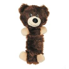 Zanies Bungee Bear Dog Toy - Dark Brown