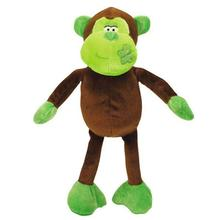 Zanies Butterfly Kisses Chimp Dog Toy - Green