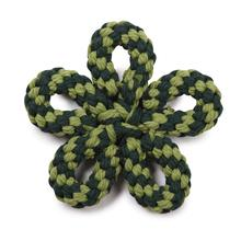 Zanies Carolina Flower Rope Dog Toy - Green