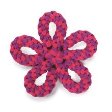 Zanies Carolina Flower Rope Dog Toy - Pink