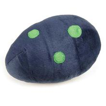 Zanies Dino Egg Dog Toy - Navy Blue