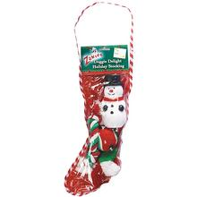 Zanies Doggie Delight Holiday Snowman Stocking for Dogs