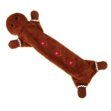 Zanies Festive Unstuffies Dog Toy - Gingerbread Man