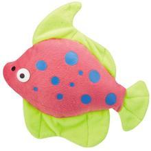 Zanies Funky Flounder Dog Toy - Pink