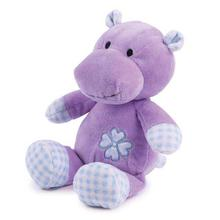 Zanies Gingham Tot Dog Toy - Hippo