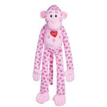 Zanies Groovy Gorilla Dog Toy - Pink