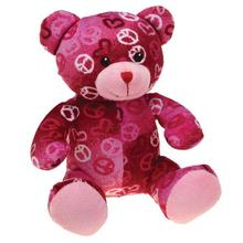 Zanies Kiss N' Cuddle Bears Dog Toy - Peace