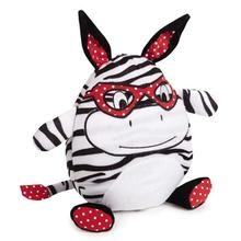 Zanies Love Me Cuddle Buddies Dog Toy - Zebra