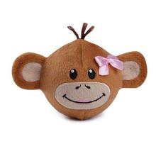 Zanies Monkey Business Squeaker Ball Dog Toy - Tiff