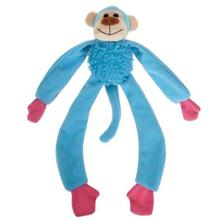 Zanies Monkey Mayhem Dog Toy - Blue