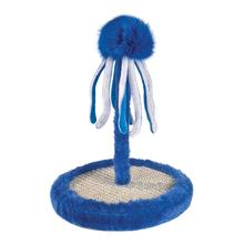 Zanies Octopus Bat & Scratch Cat Toy - Blue
