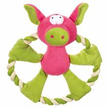 Zanies Rattling Rascal Dog Toy - Pig
