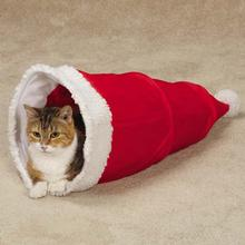 Zanies Santa Hat Cat Tunnel