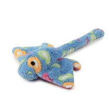 Zanies Sea Charmers Dog Toy - Blue Sting Ray