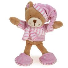 Zanies Sleepy Teddies Dog Toy - Pink
