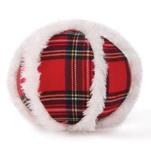 Zanies Snow Cap Tartan Dog Toy - Ball