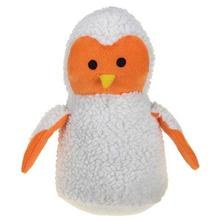 Zanies Snuggly Owlets Dog Toy - Orange