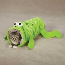 Zanies Toad-ally Fun Cat Crinkle Tunnel