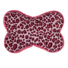 Zanies Vibrant Leopard Squeezers Dog Toy - Raspberry