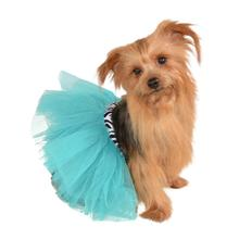 Zebra and Turquoise Dog Tutu