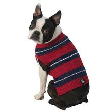 Ziggy's Striped Dog Sweater - Red/Navy