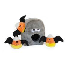 Zippy Paws Halloween Burrows Dog Toy - Spooky Gravestone
