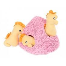 ZippyPaws Burrow Dog Toy - Seahorse 'n Coral