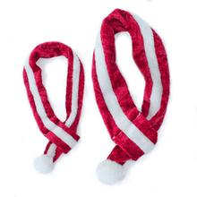 ZippyPaws Fuzzy Holiday Dog Scarf - Red