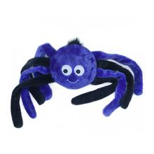 ZippyPaws Halloween Grunterz Dog Toy - Purple Spider